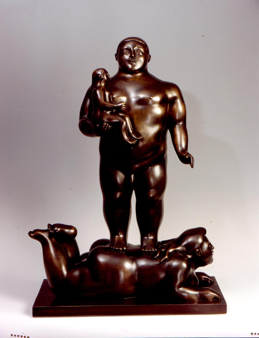 Women with Child, Tamaño: 71x53x26.5 cms, Bronce